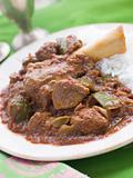 Lamb Shank Rogan Josh Gosht with Plain Basmati Rice