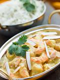 Tiger Prawn Korma Restaurant Style with Basmati Rice