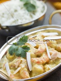 Tiger Prawn Korma Restaurant Style with Basmati Rice