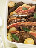 Calves Liver Bacon and Saute potatoes