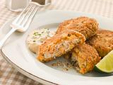 Maryland Crab Cakes with Curry Mayonnaise