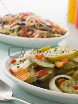 Bread and Butter' Gherkins with Seeded Slaw