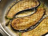 Eggplant Frying in Corn Oil