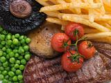 Sirloin Steak Chips and Grill Garnish