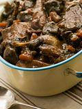 Winter Game Casserole In a Casserole Dish