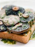Garlic Field Mushrooms on Toast with Parsley Butter