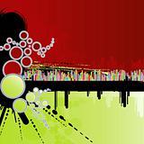 Rainbow columns grunge background