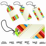 Back to school education retail tags