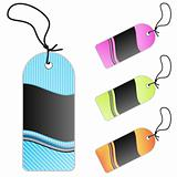 Lined art retail tags