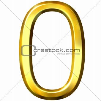 3d golden number 0