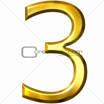 3d golden number 3