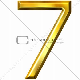 3d golden number 7