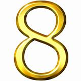 3d golden number 8