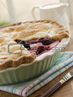 Hot Blackberry and Apple Pie