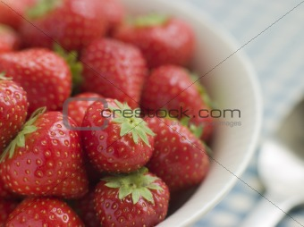 Bowl of English Strawberries