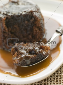 Sticky Toffee Pudding with Toffee Sauce