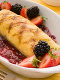 Jam Omelette with Berries