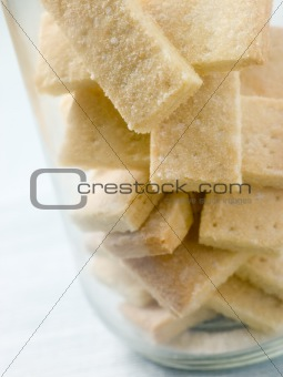 Jar of Shortbread Finger Biscuits