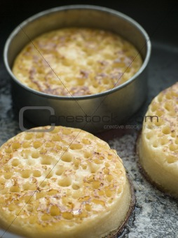 Cooking Crumpets in a Frying Pan