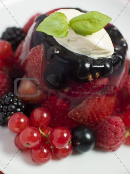 Champagne Berry Jelly with Clotted Cream