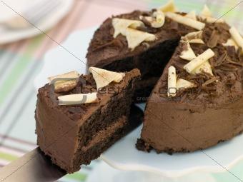 Slice of Chocolate Victoria Sponge
