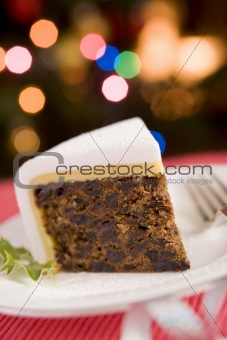 Wedge of Christmas Cake