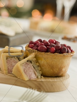 Pork Turkey and Stuffing Pie Cranberry and Game Pie