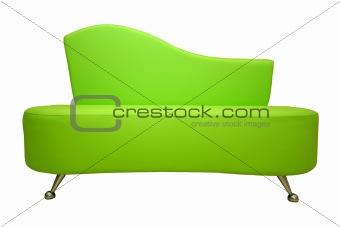 green sofa isolated