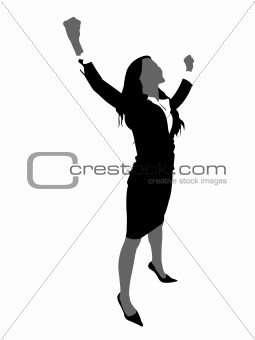 business lady with open arms