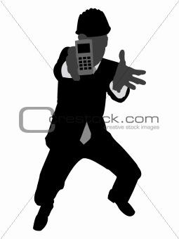 architect holding cellphone