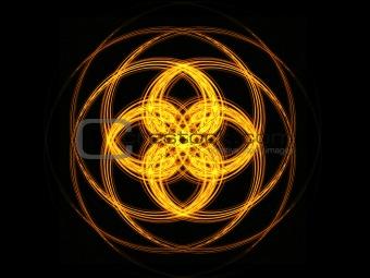 Flame geometric ornament.