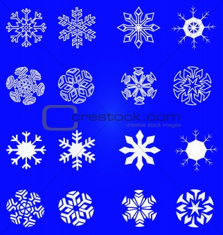 Snowflakes - vector