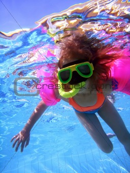 Girl underwater