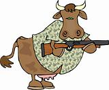 Cow with a gun