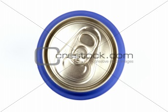 top view of can of soda