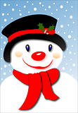 Smiling Snowman (Vector)