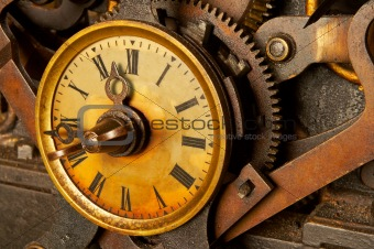Antique grunge clock
