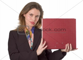 Business woman with documents