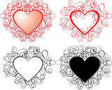 Valentine background, hearts, vector