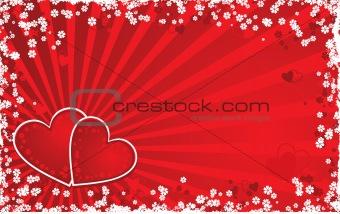 Valentine grunge background, vector