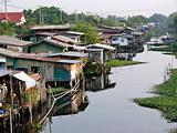 Canalside slum
