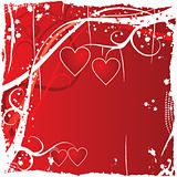 Valentine grunge background, vector