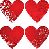 Valentine background, hearts, vector
