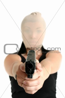 Armed robber with gun