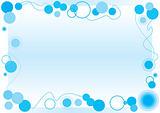 Blue Bubbles Frame