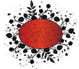 Grunge floral banner - vector