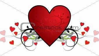 Valentine background, heart, vector