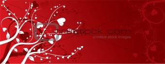 Valentine background, vector