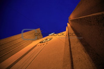Vertical view Hallgrimskirkja