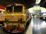 Railway train at station in Bangkok